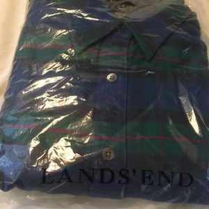 NWT blue green red women's flannel, 14-16P